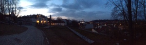 The place on the left is our apartments, and it was in a really great part of town.  Vilnius is a beautiful city!