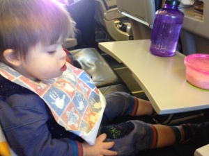 Listen lady, plane or no plane, keep my belly full and everything will be all right!