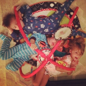 It's really fun when all three kids try to cram in :)